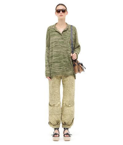 LOEWE Poloneck Sweater Melange Beige/Khaki Green front
