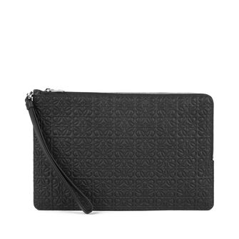 LOEWE Pouch Doble Plana Negro front