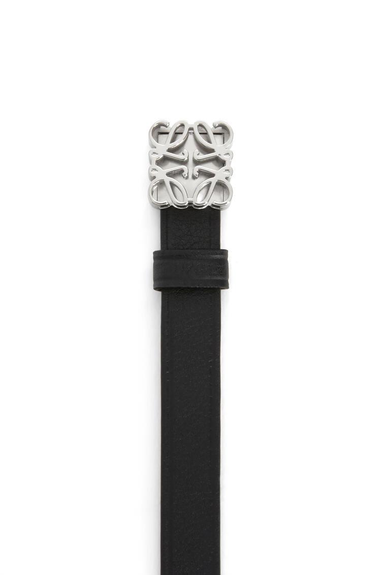 LOEWE Pulsera de Anagrama en piel de ternera Negro/Paladio pdp_rd