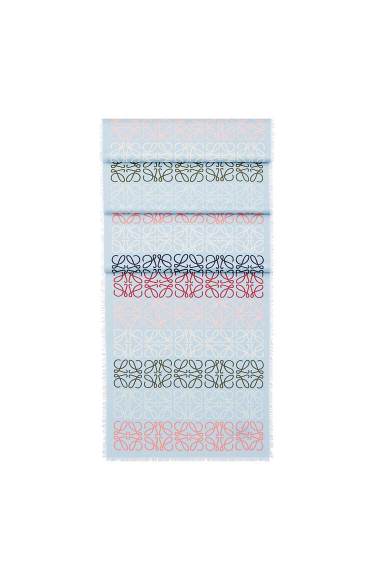 LOEWE 45 X 200 Cm Loewe Anagram Scarf In Wool And Cashmere Blue/Multicolor pdp_rd