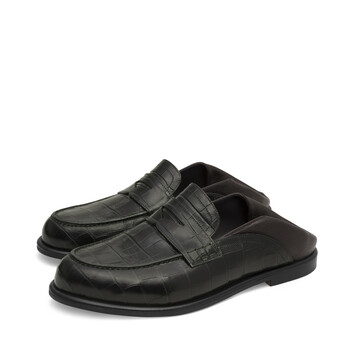 LOEWE Slip On Loafer Verde Oscuro/Marron Oscuro front