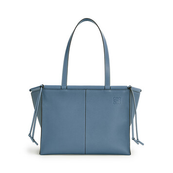 LOEWE Cushion Tote Azul Acero front