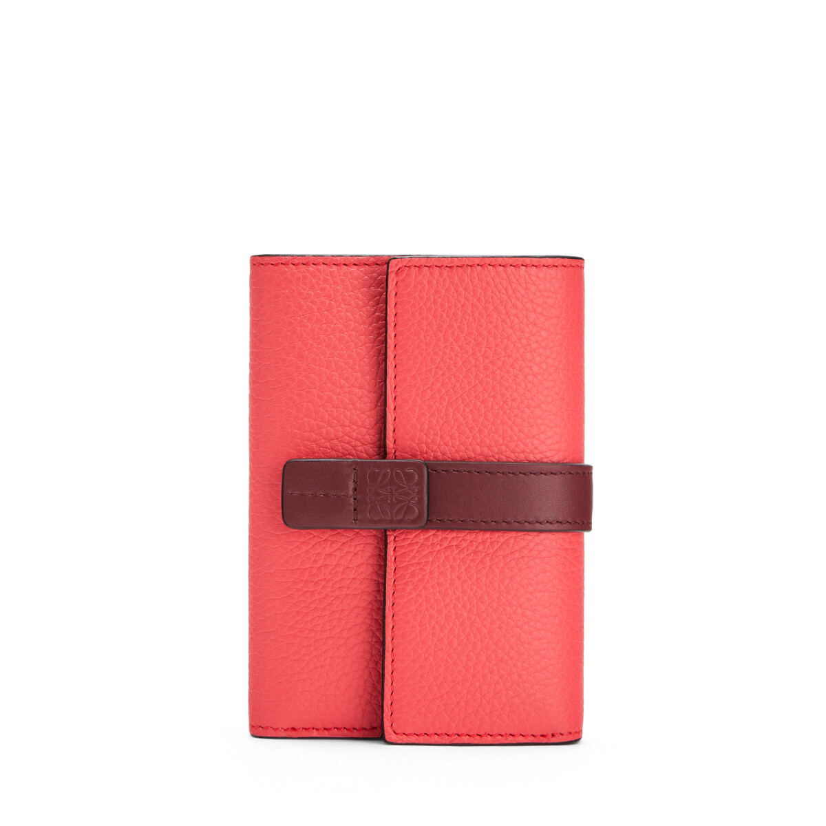 LOEWE Small Vertical Wallet Poppy Pink front