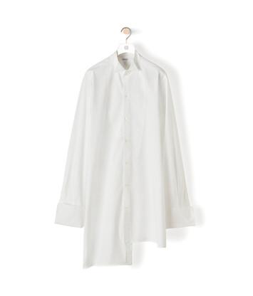 LOEWE Long Ov Asymmetric Shirt ホワイト front
