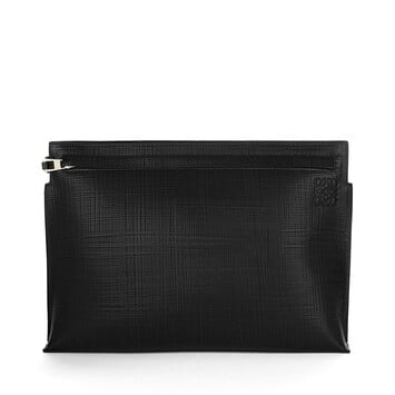 LOEWE T Pouch Linen 黑色 front
