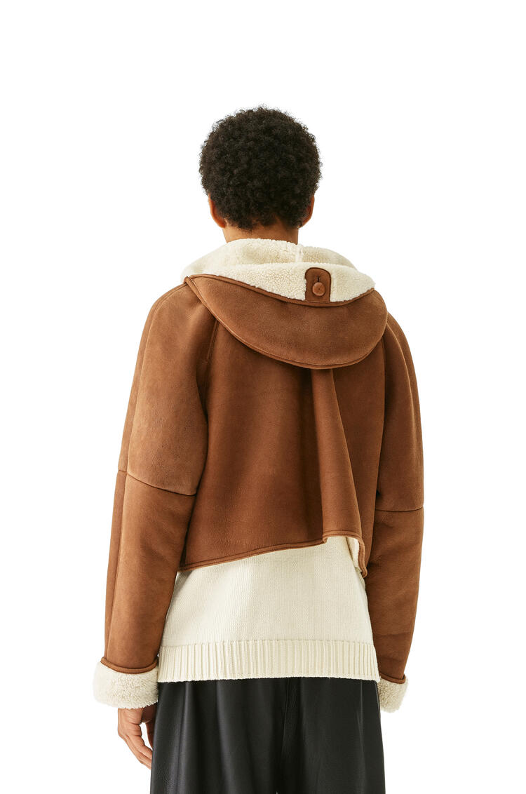 LOEWE Shearling jacket in novack 深褐 pdp_rd