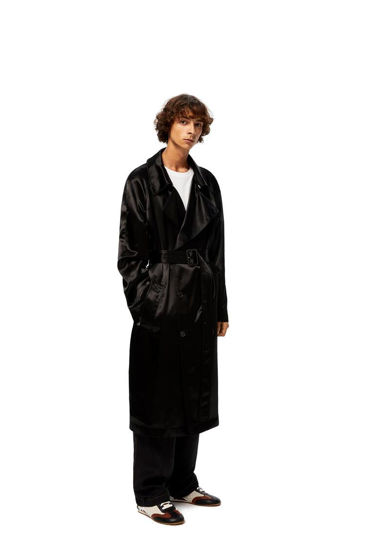 LOEWE Satin Coat In Viscose Black pdp_rd