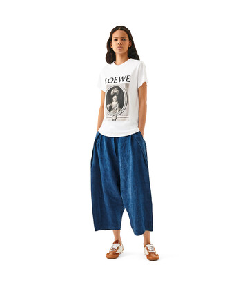 LOEWE T-Shirt Loewe Portrait White/Brown front