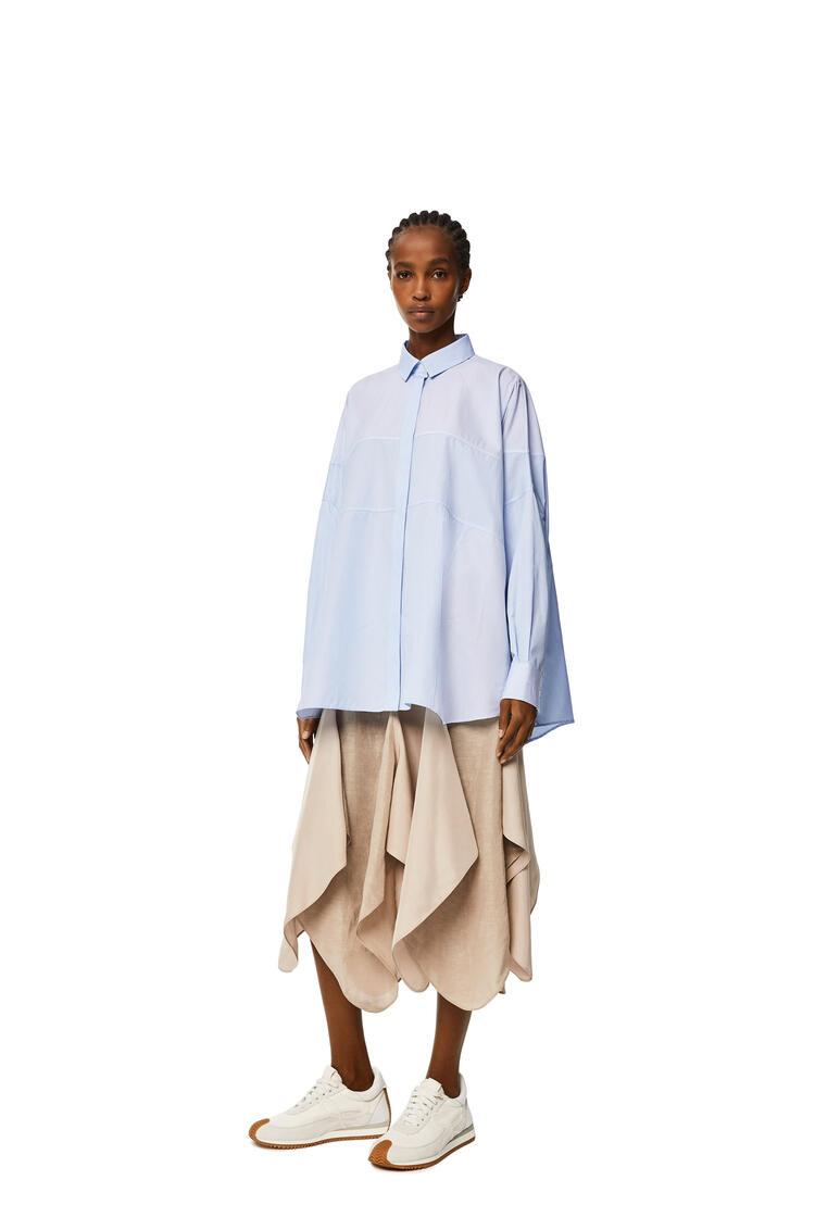 LOEWE Camisa en patchwork de rayas Blanco/Azul pdp_rd