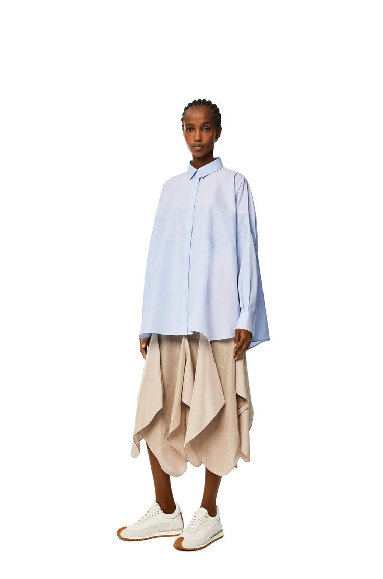 LOEWE Stripe patchwork shirt White/Blue pdp_rd