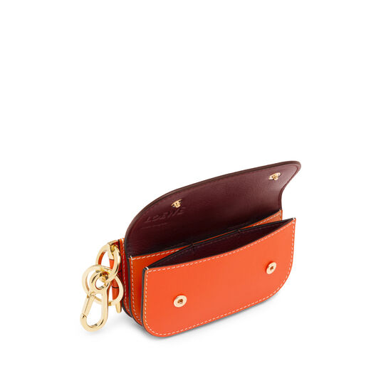 LOEWE Gate Mini Wallet Orange/Oxblood all