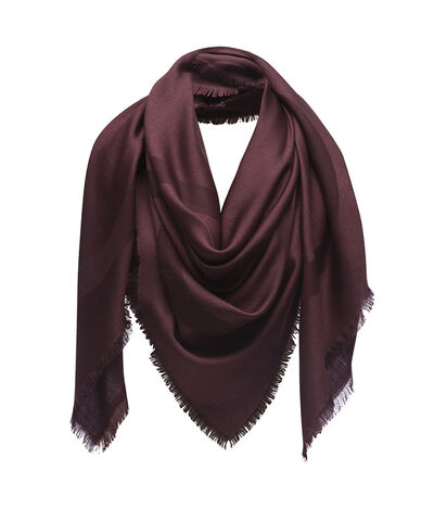 LOEWE 140X140 Scarf Giant Anagram Dark Red front