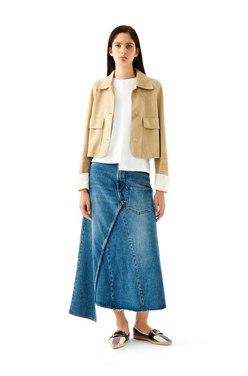 LOEWE Denim Skirt Washed Denim front