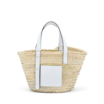 LOEWE Basket Bag Natural/White front