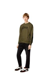 LOEWE LOEWE embroidery sweatshirt in cotton Khaki Green pdp_rd