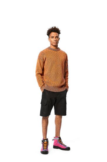 LOEWE Melange crewneck sweater in cotton Orange/Blue pdp_rd