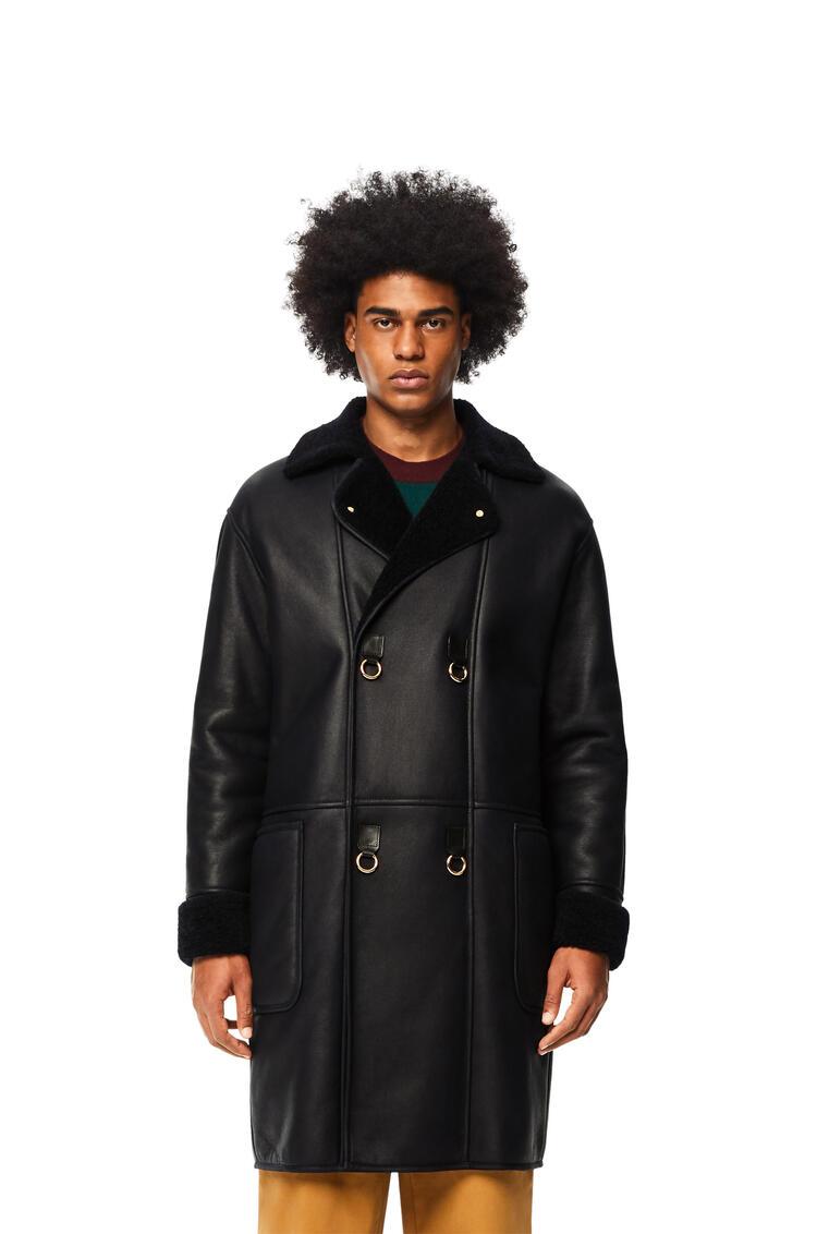 LOEWE Shearling coat Navy Blue pdp_rd
