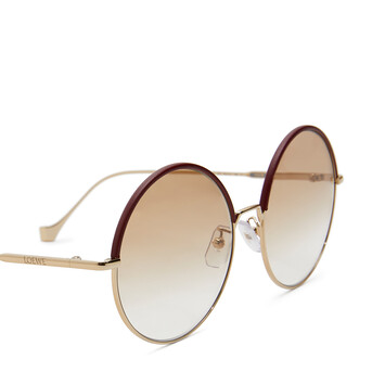 LOEWE Round Sunglasses Burgundy/Blush front