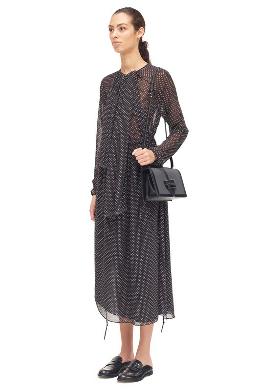 LOEWE Lavalliere Dress Negro/Blanco all