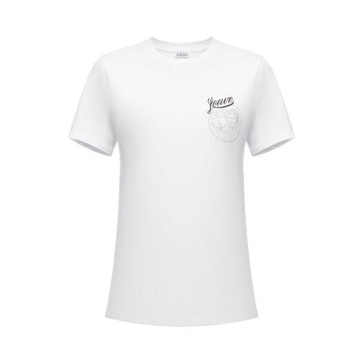LOEWE Tシャツロエベバード ホワイト front