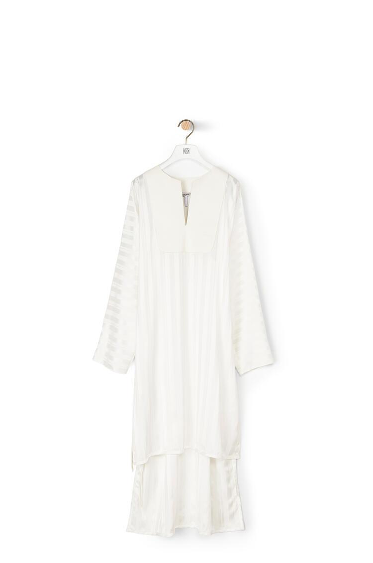 LOEWE Jacquard tunic dress in striped viscose White pdp_rd