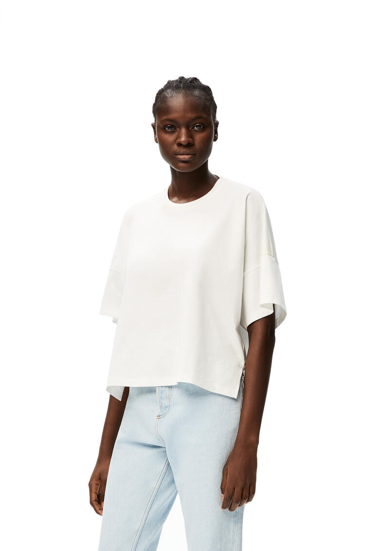 LOEWE Anagram embroidered cropped t-shirt in cotton White pdp_rd