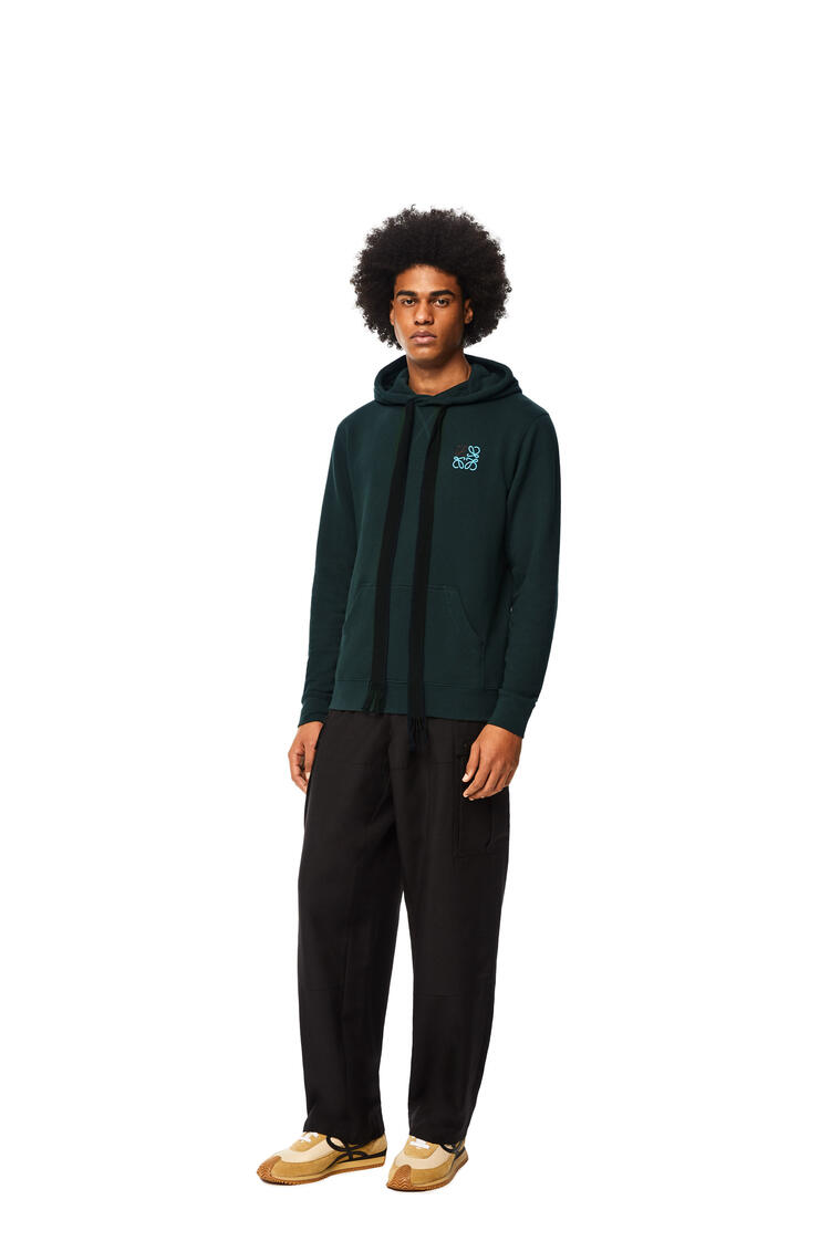 LOEWE Anagram hoodie in cotton Forest Green pdp_rd