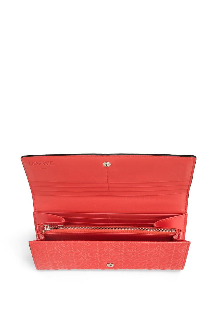 LOEWE Continental wallet in calfskin Poppy Pink pdp_rd