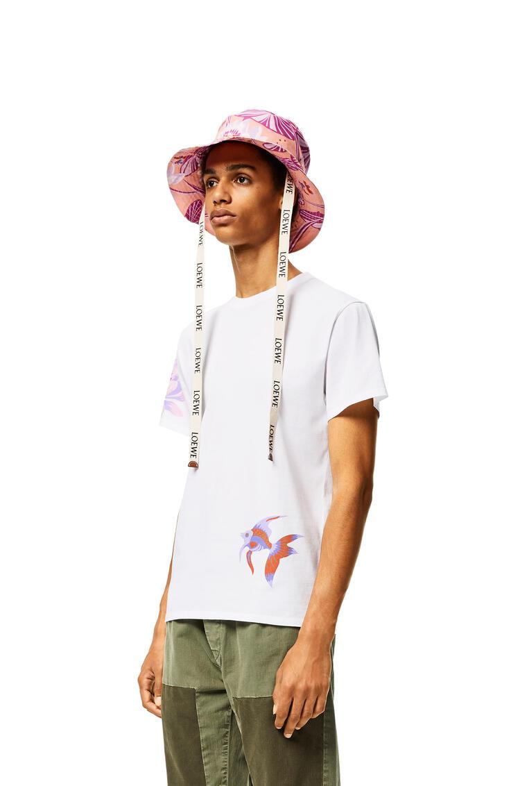 LOEWE Fisherman hat in printed canvas Pink pdp_rd