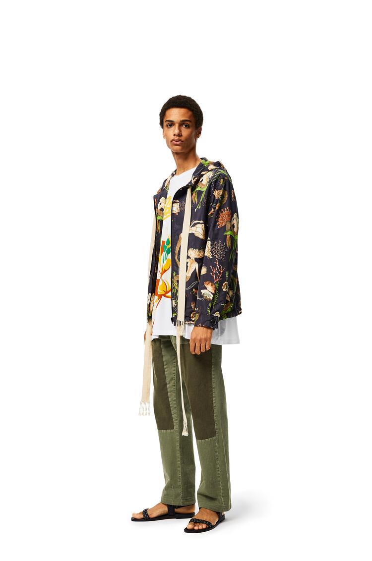 LOEWE Trousers In Cotton Khaki Green/Dark Khaki Green pdp_rd