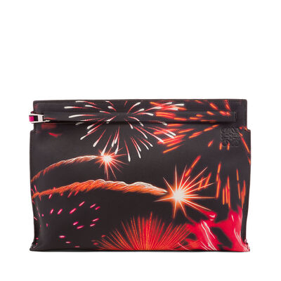LOEWE T Pouch Fireworks Multicolor front