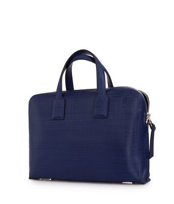 LOEWE Goya Thin Briefcase Navy Blue front