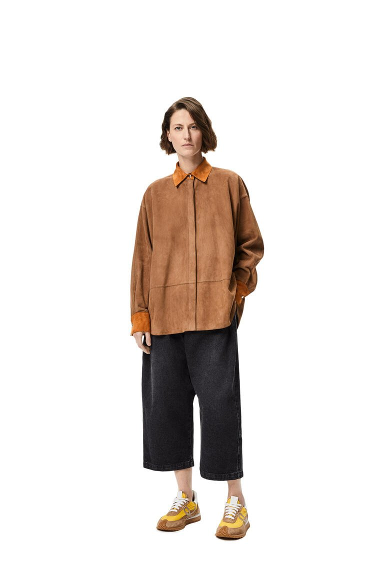 LOEWE Oversize shirt in suede Sand/Caramel pdp_rd