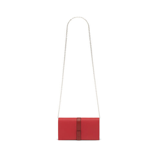 LOEWE Wallet On Chain Scarlet Red/Brick Red all