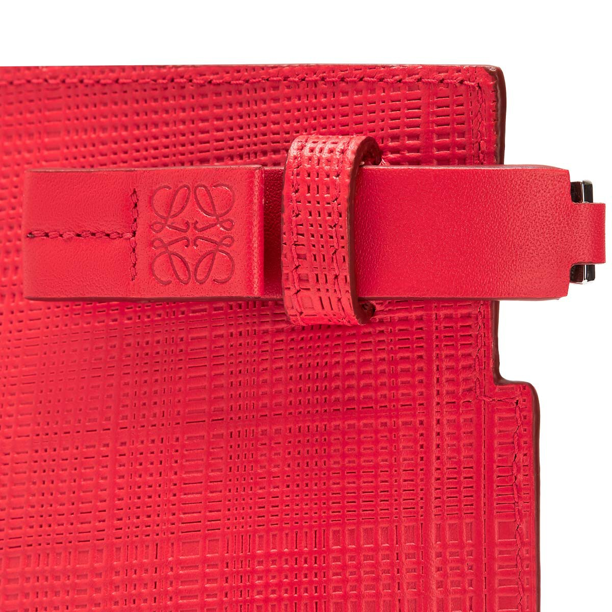 LOEWE Linen T Pouch Primary Red/Palladium front