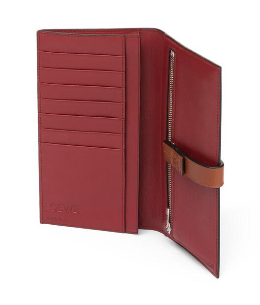 LOEWE Large Vertical Wallet Light Caramel/Pecan Color  front