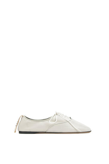 LOEWE Soft Derby in lambskin Soft White pdp_rd