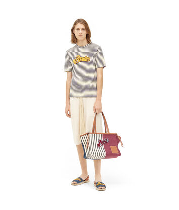 LOEWE パウラストライプTシャツ ホワイト/ネイビーブルー front