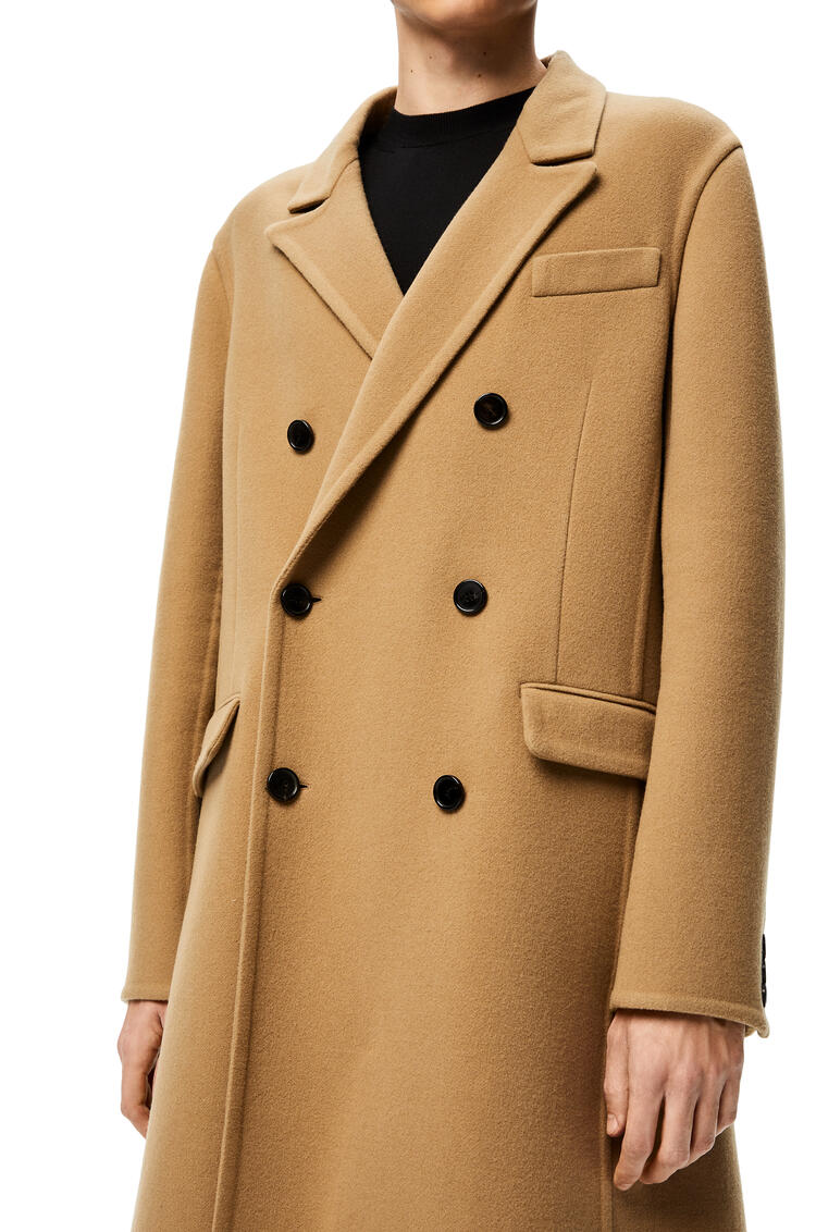 LOEWE Double-breasted coat in wool Camel pdp_rd