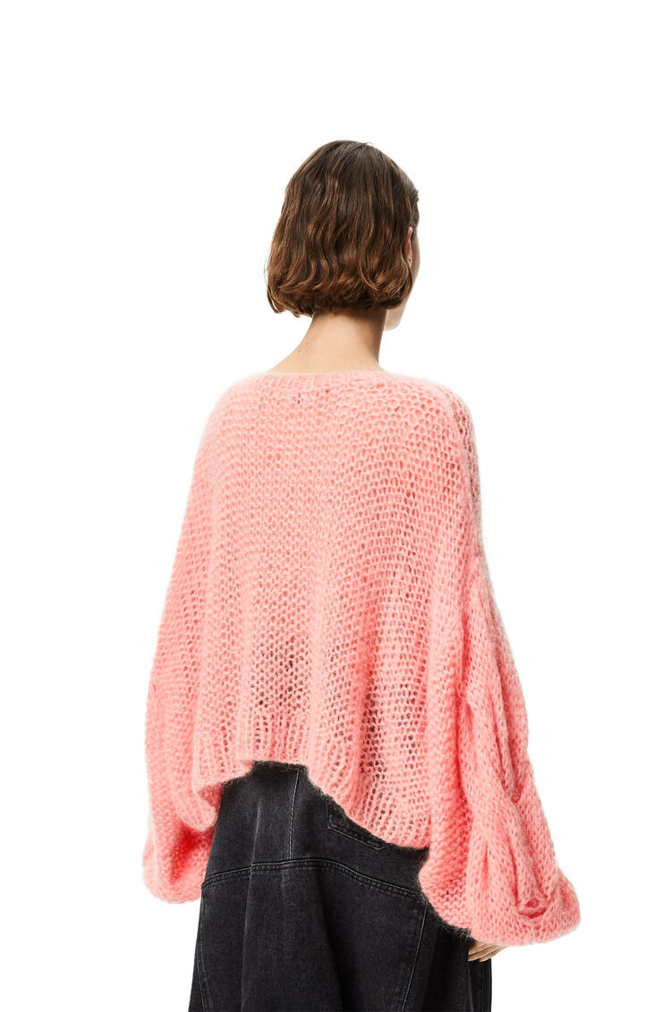 LOEWE 马海毛 Anagram 针织毛衣 Pink Tulip pdp_rd