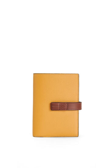 LOEWE Medium Vertical Wallet in soft grained calfskin Narcisus Yellow/Pecan pdp_rd