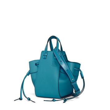 LOEWE Hammock Drawstring Mini Bag Dark Lagoon front