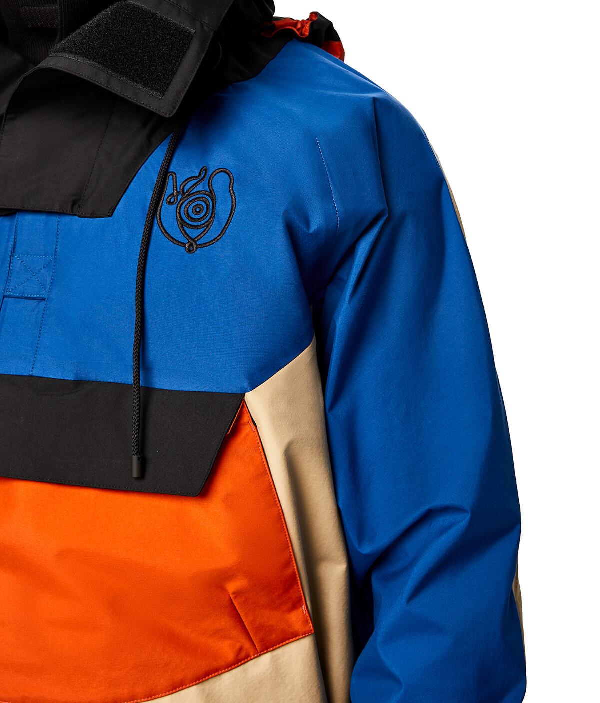 LOEWE Eln Pullover Parka Blue/Beige front