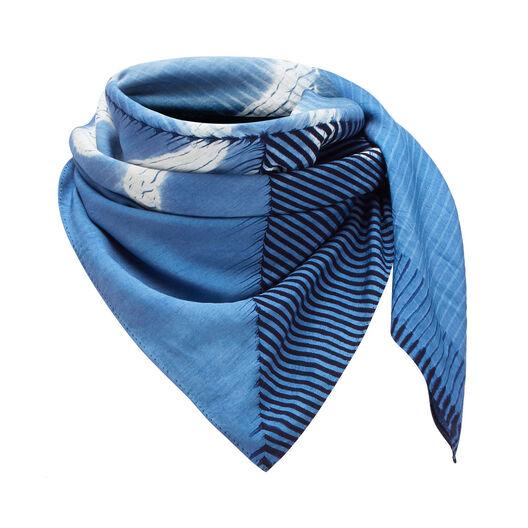 LOEWE 90X90 Scarf Anagram Tie & Dye Indigo all