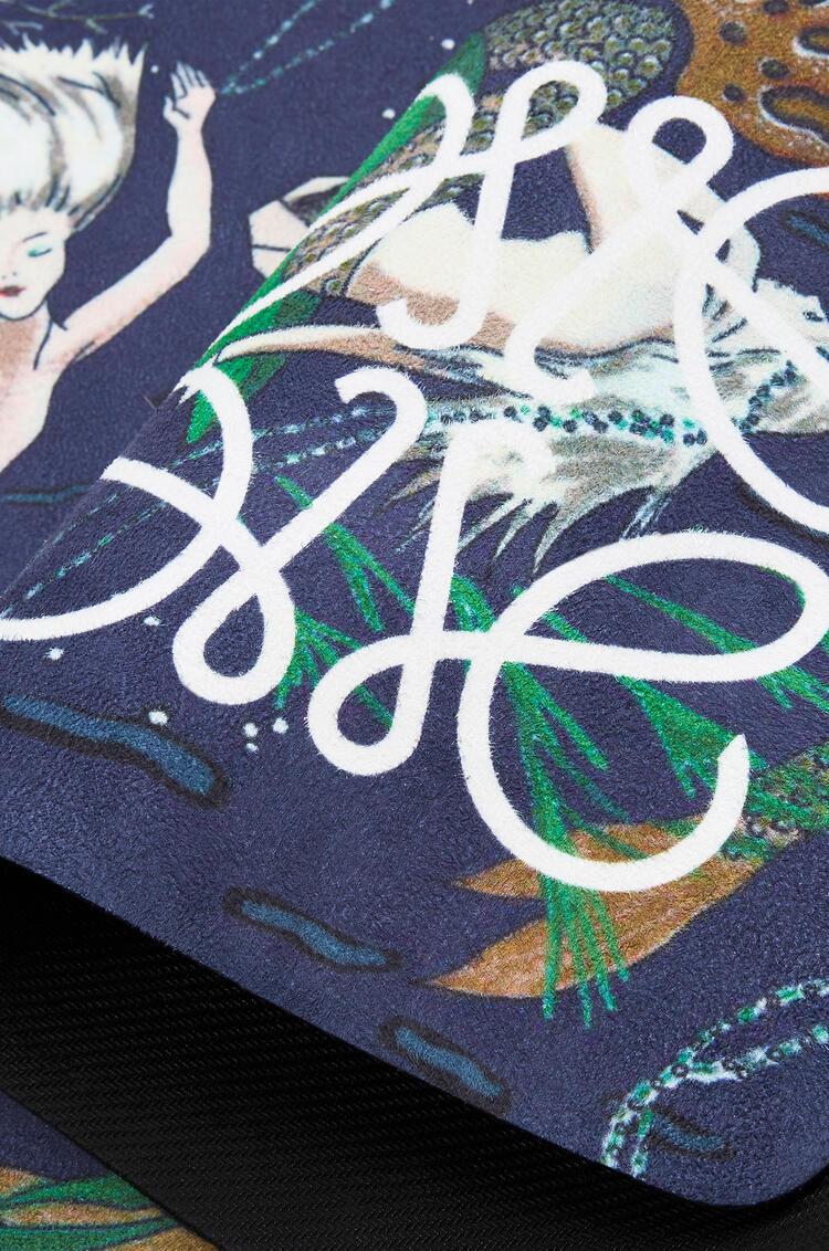 LOEWE Yoga Mat In Mermaid Microfibre And Calfskin 海水 pdp_rd
