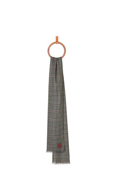 LOEWE 70 X 200 Cm Scarf In Cashmere Dark Grey/Green pdp_rd
