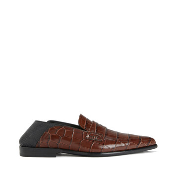 LOEWE Pointy Slip On Loafer Brown/Black front