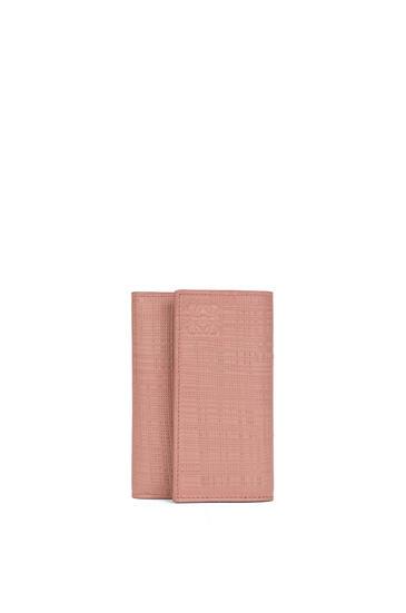 LOEWE Small vertical wallet in calfskin Blush pdp_rd