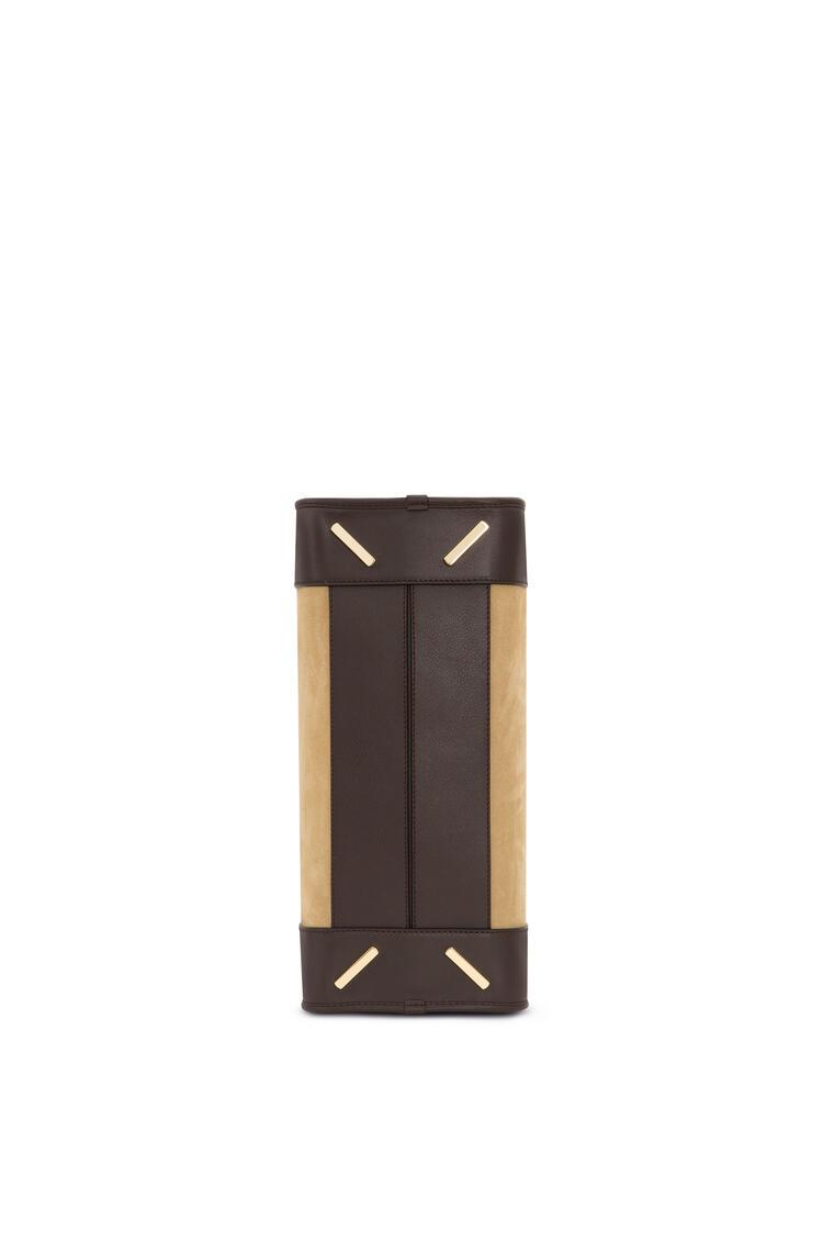 LOEWE 绒面革和牛皮革 Amazona 手袋 金色/深棕色 pdp_rd