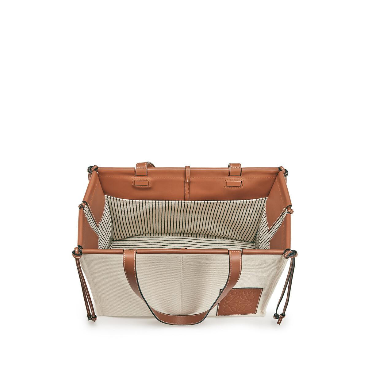 LOEWE Bolso Cushion Tote Pequeño Avena Claro front